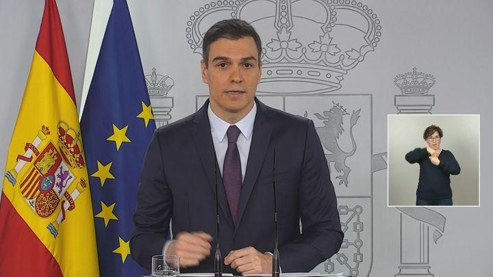 Sánchez pedirá al Congreso una prórroga del estado de alarma de un mes