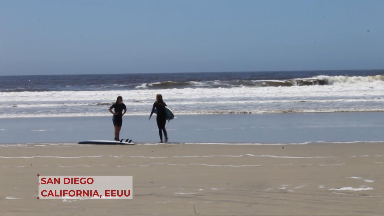 Las playas de California en pleno confinamiento