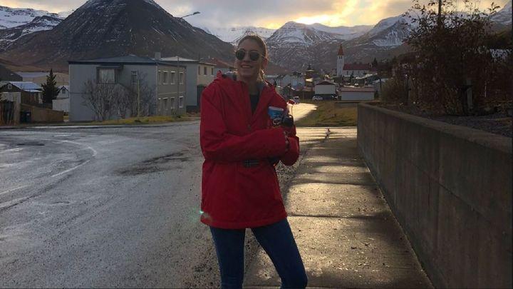 Maiu, jugadora de voleibol y 'atrapada' en Islandia