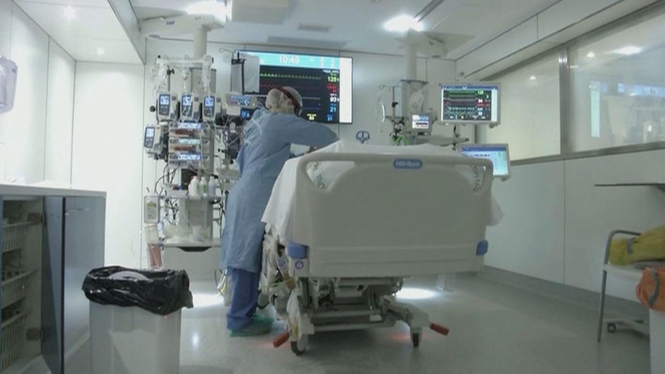 Paciente de Covid 19 ingresado en UCI