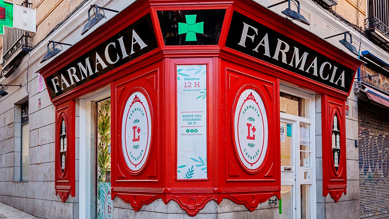 Comercios centenarios de Madrid: Farmacia Lavapiés