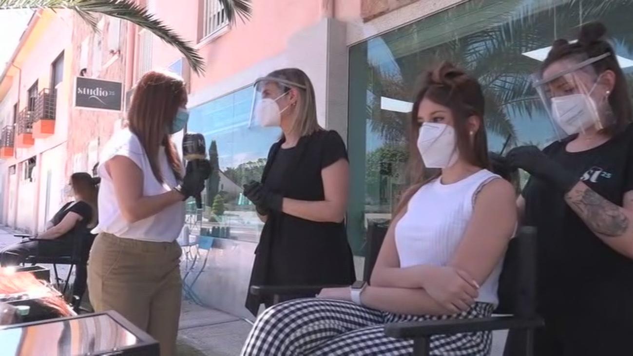 Llega la primera peluquería al aire libre a Quijorna