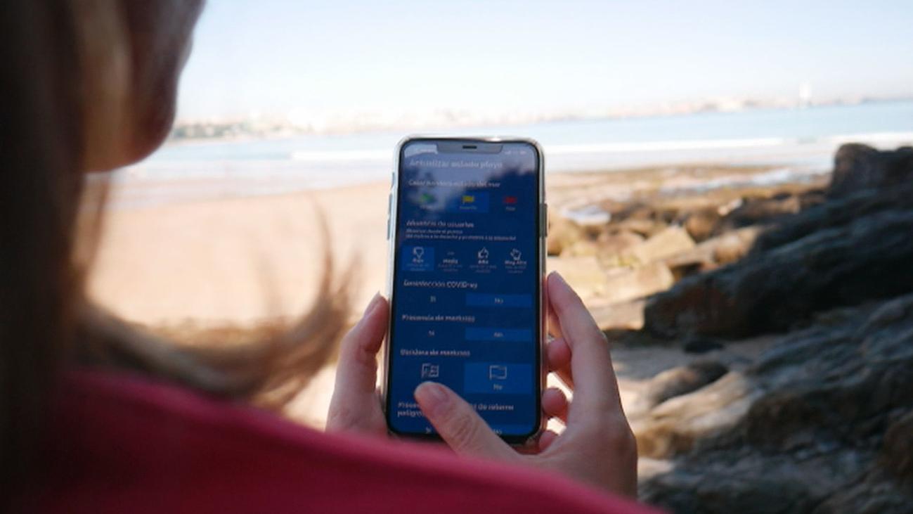 Las playas españolas crean aplicaciones para controlar el aforo