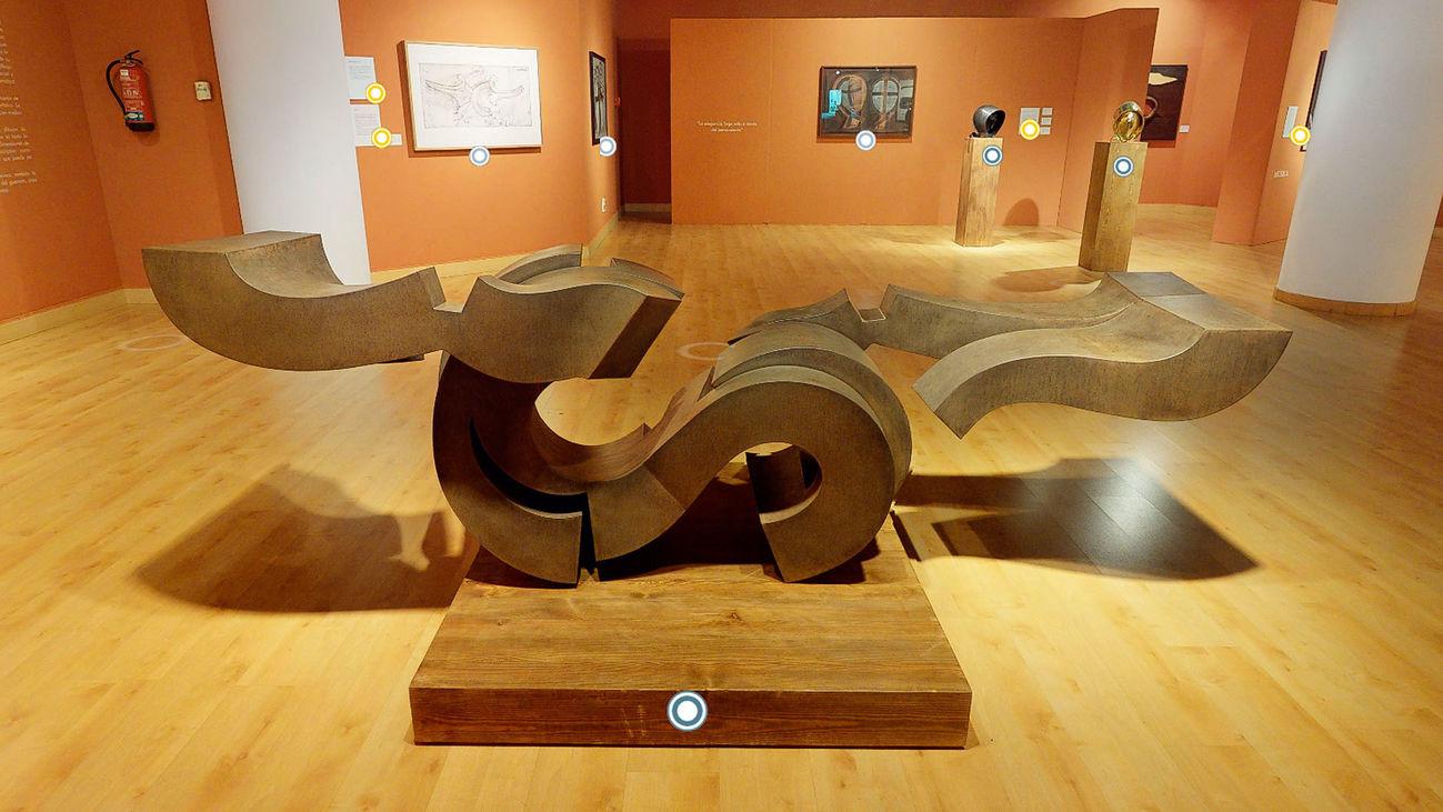 Imagen de la visita virtual a la exposición de Martín Chirino, en el Espacio MIRA de Pozuelo de Alarcón