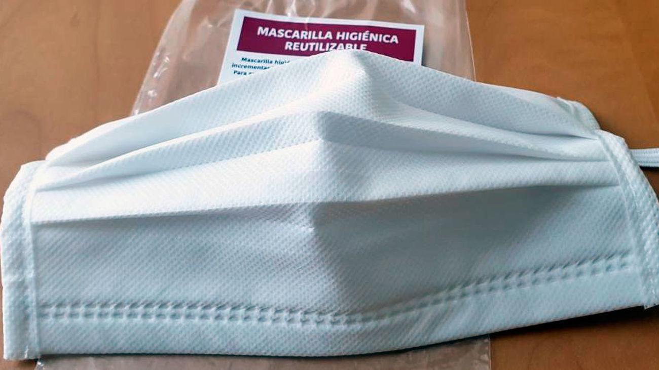 Las mascarillas higiénicas reutilizables y debidamente certificadas, que va a repartir el Ayuntamiento de Villaviciosa de Odón
