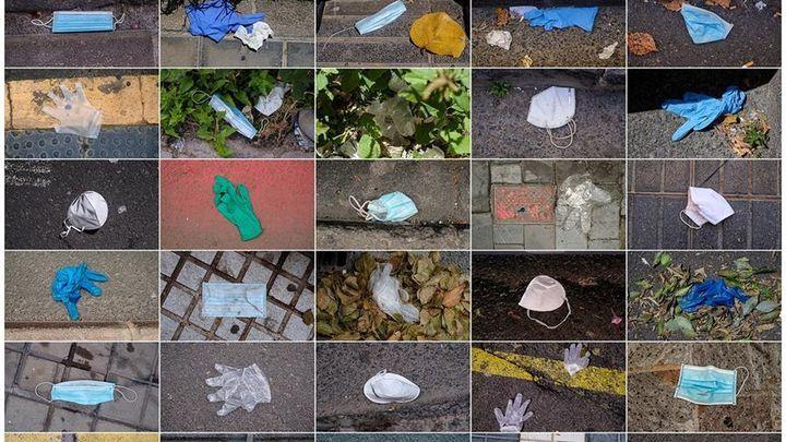 Mascarillas y guantes empiezan a formar parte del paisaje urbano de las ciudades