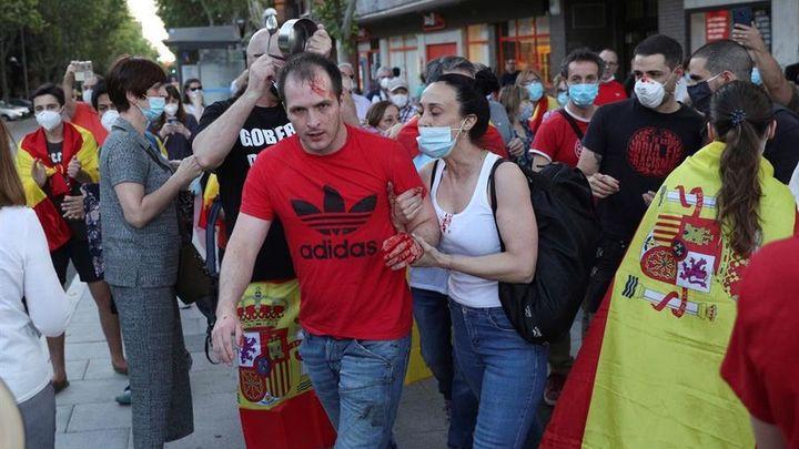 La tensión en Moratalaz protagonizó la undécima jornada de caceroladas en Madrid