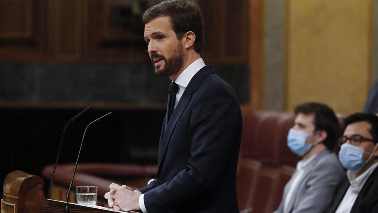 Pablo Casado recrimina a Sánchez pactar con Bildu la derogacion de la reforma laboral