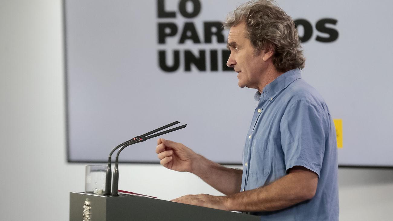 Fernando Simón, durante una de las comparecencias ante la prensa