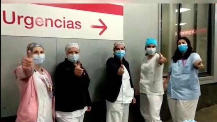Sanitarios de La Paz inician una campaña de donaciones para los bancos de alimentos