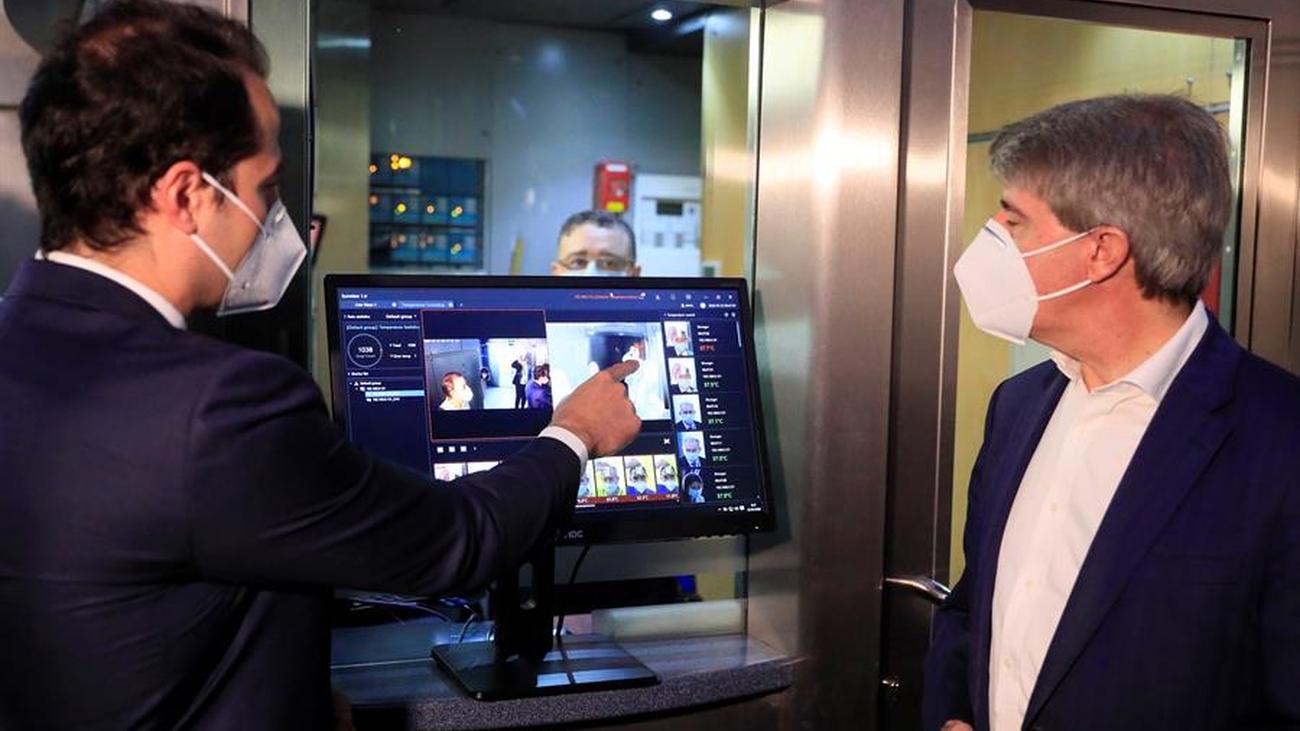 Metro de Madrid instala una cámara para medir la temperatura a sus empleados del centro de control