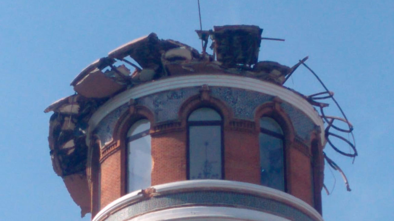 Derrumbe en un edificio de la calle  Alfonso XII