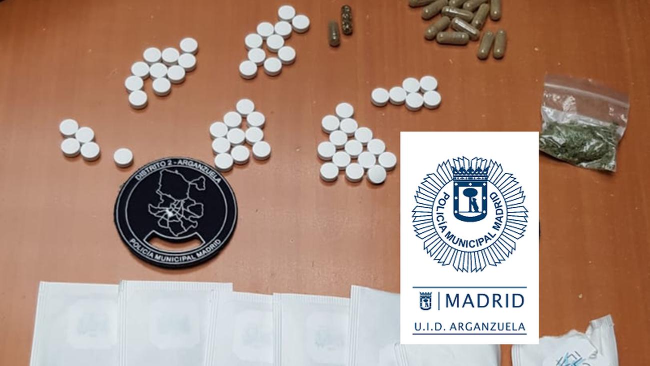 Droga incautada por la policía en Arganzuela