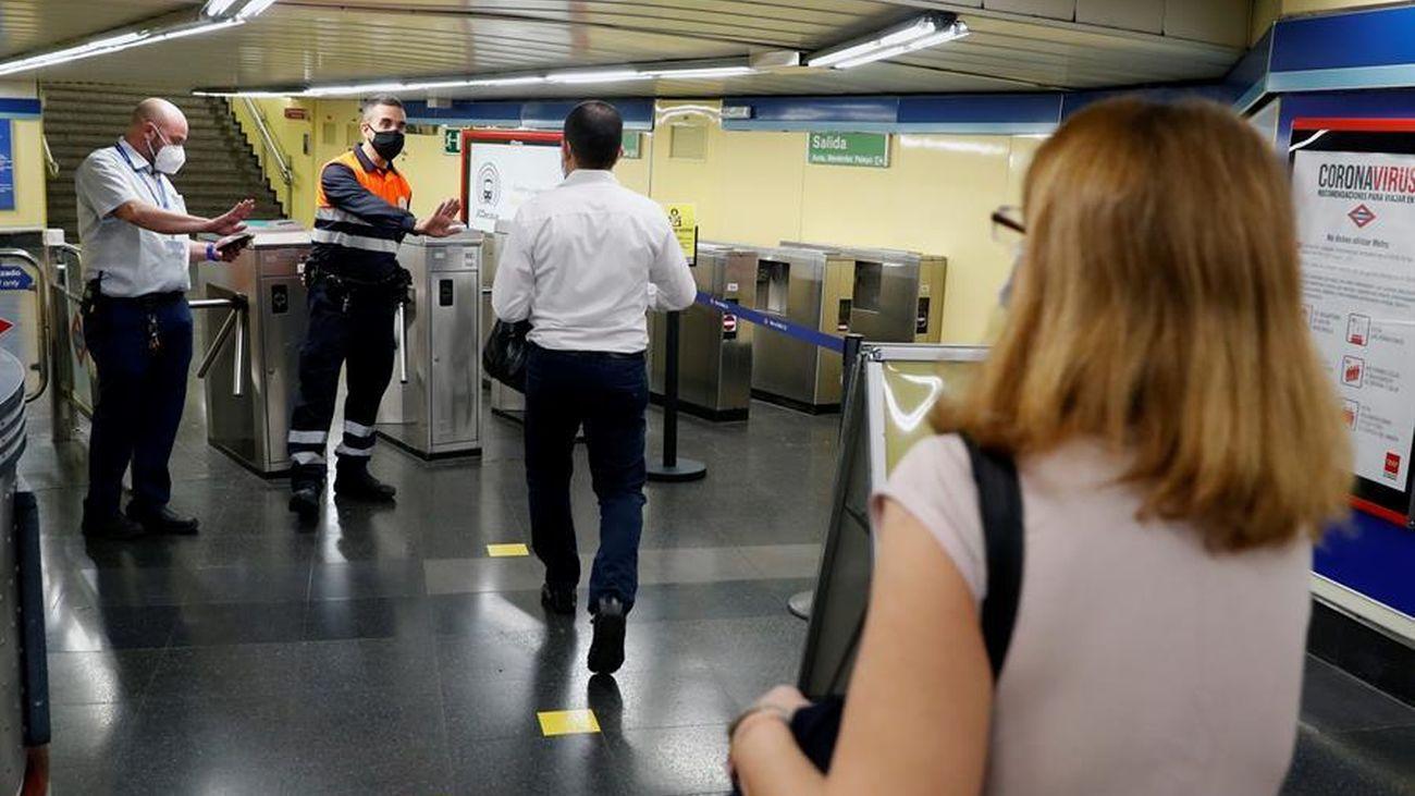 Control de acceso a una estación de Metro de Madrid