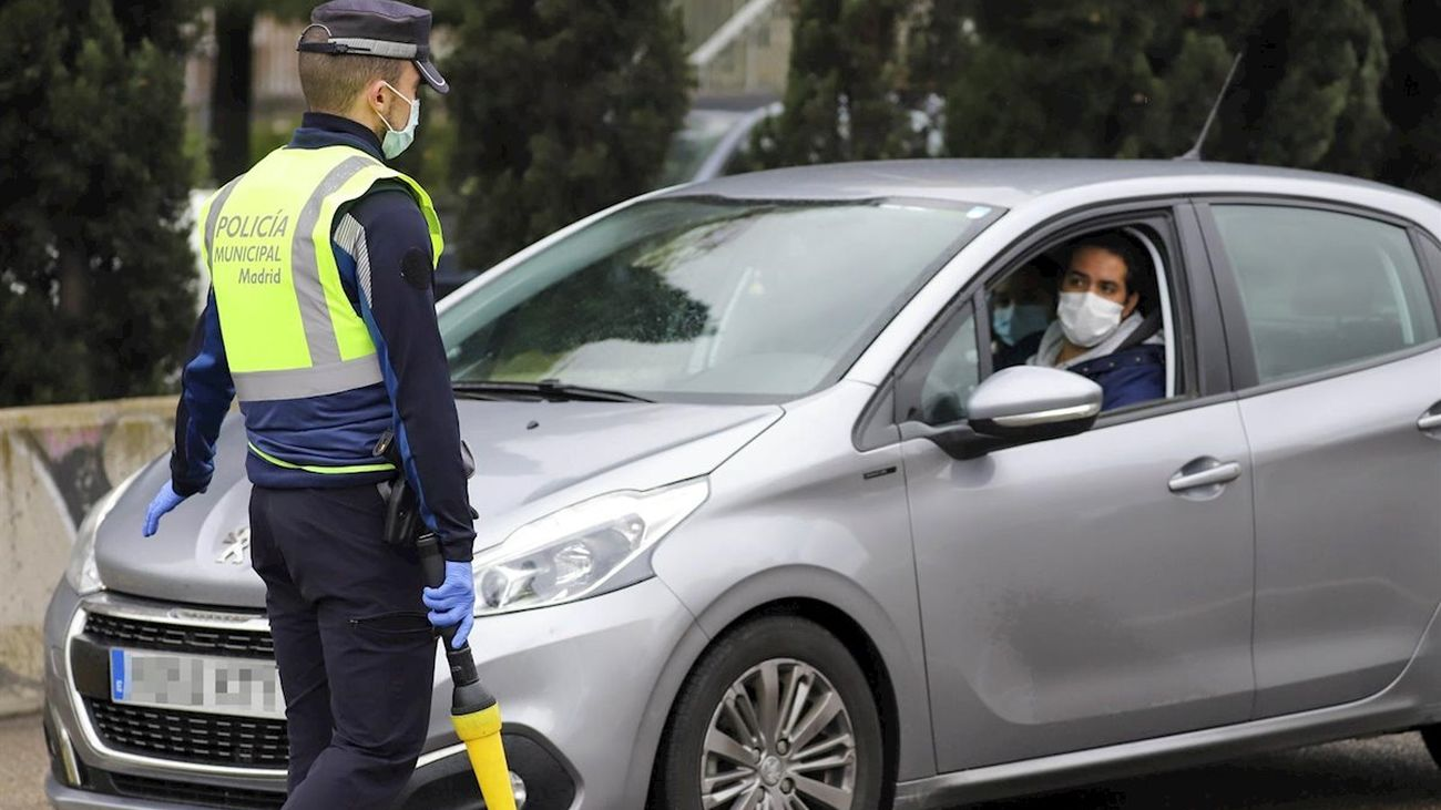 Un control de la Policía Municipal de Madrid