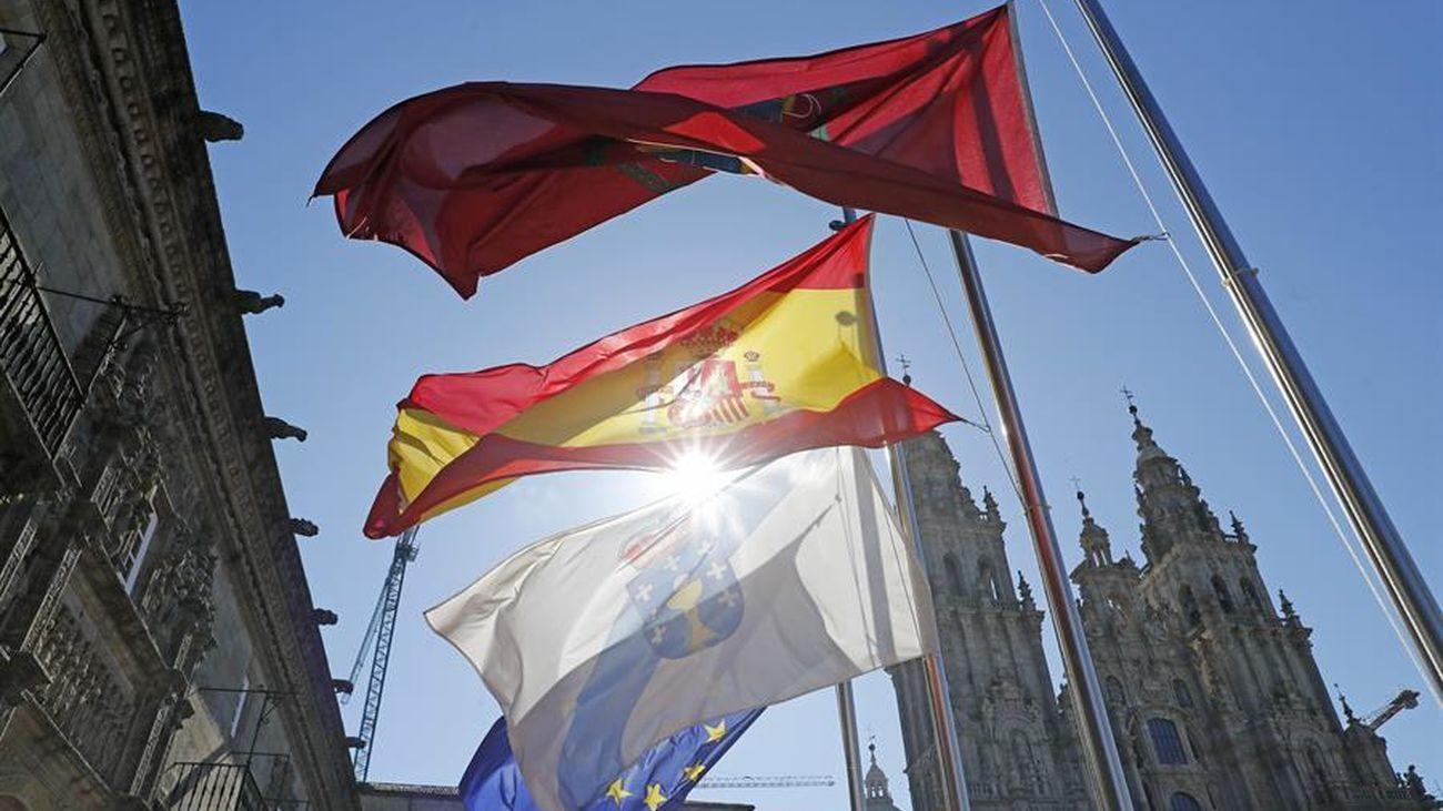 Banderas en Santiago de Compostela