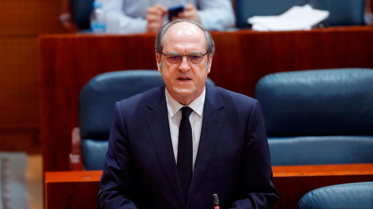Ángel Gabilondo durante el Pleno de la Asamblea