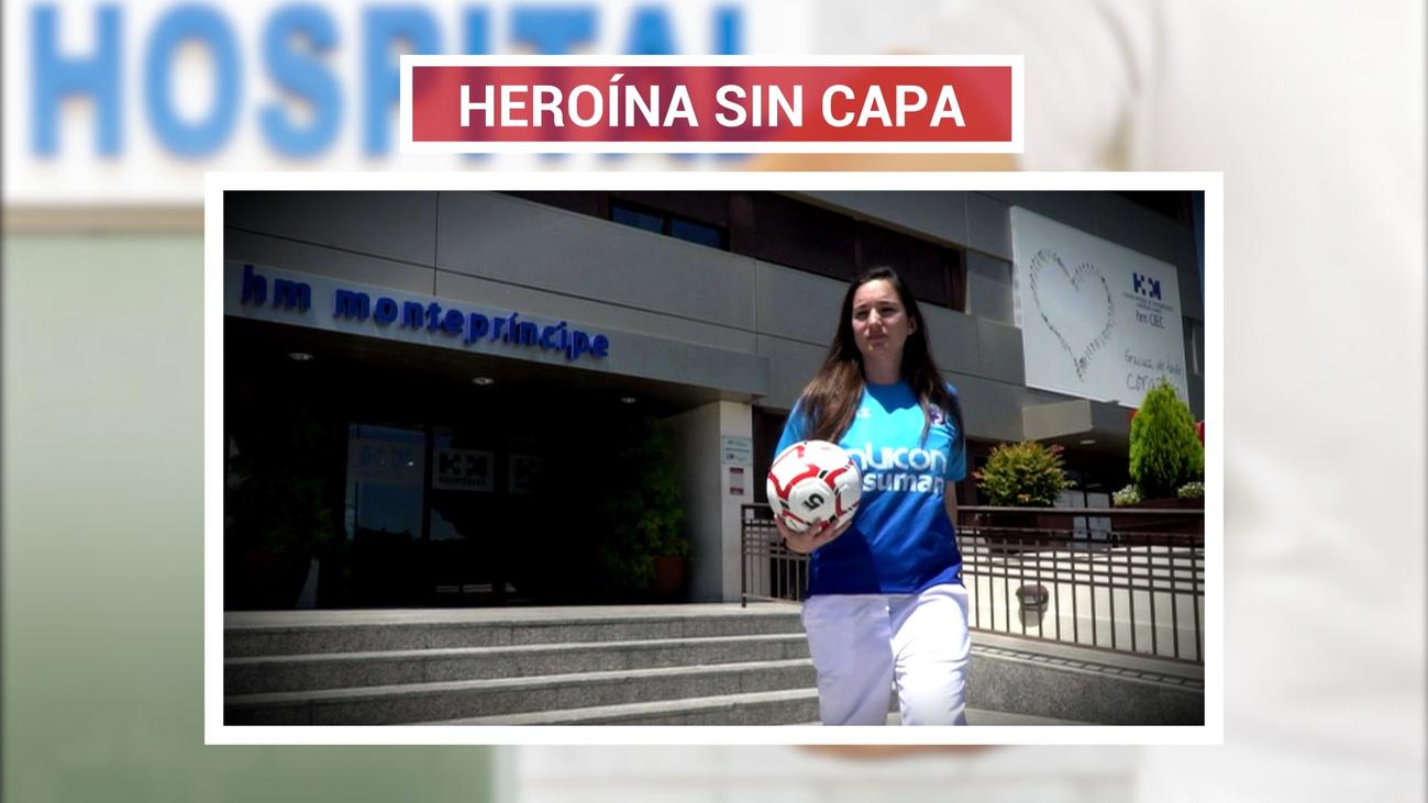 Paloma Maraver, jugadora de Las Rozas CF y en primera línea contra el covid-19