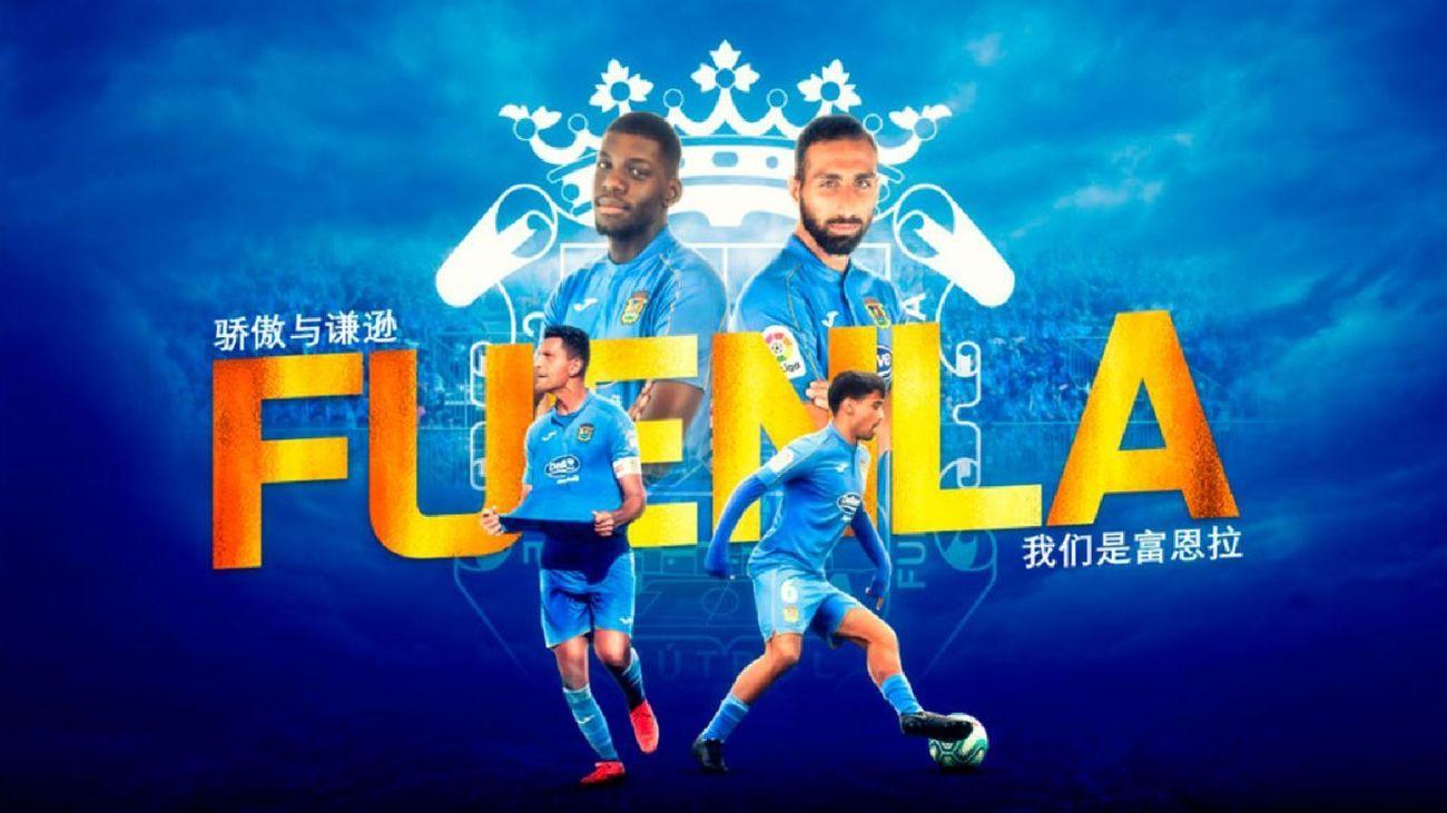 CF Fuenlabrada, en las redes sociales chinas