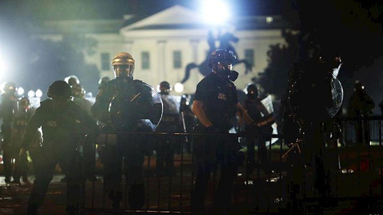 Protestas frente a la Casa Blanca por la muerte de Floyd