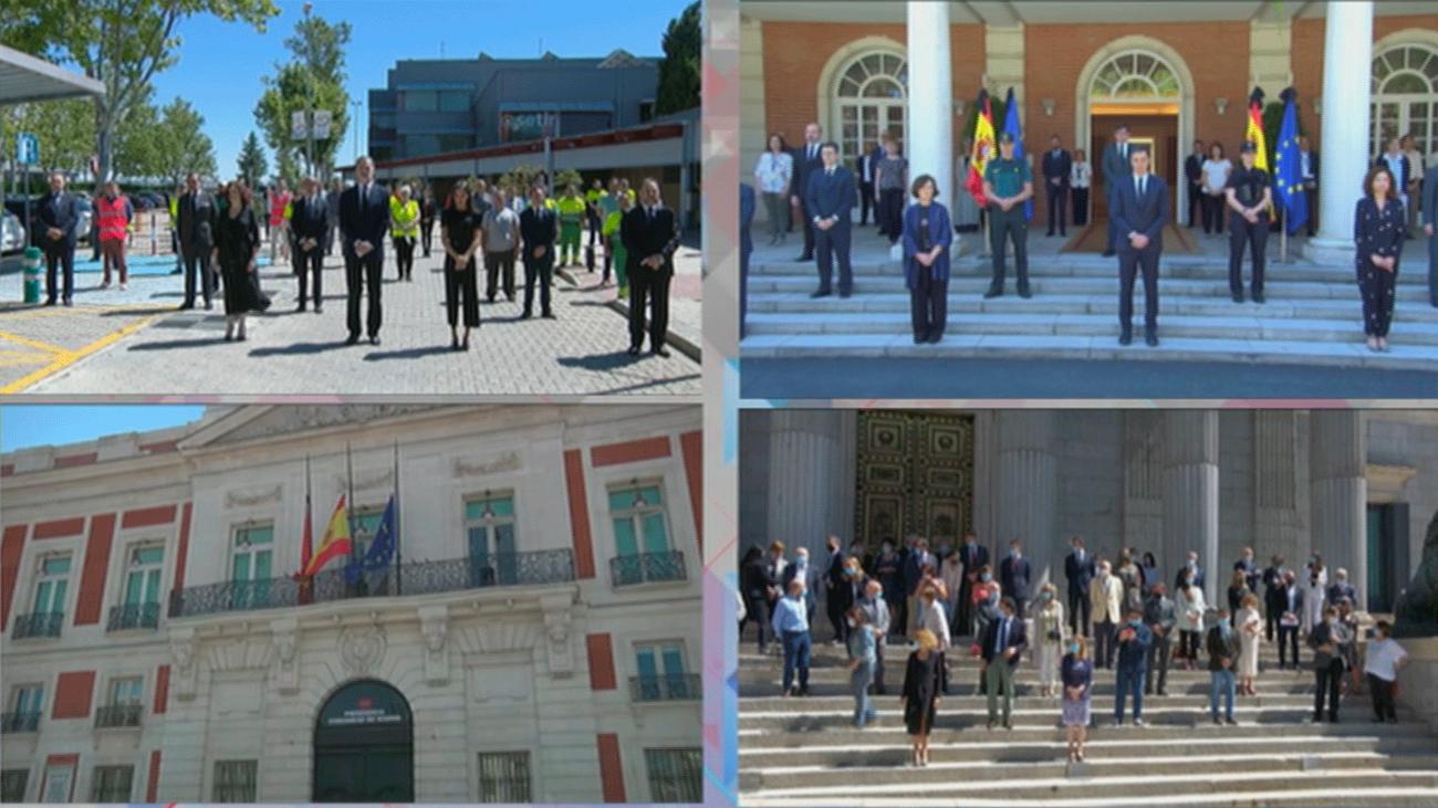 Emotivo minuto de silencio en el último día de luto oficial