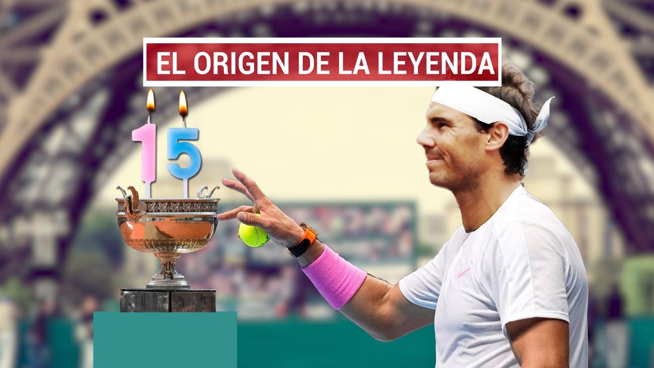 Se cumplen15 añosdel primer título deNadalen Roland Garros