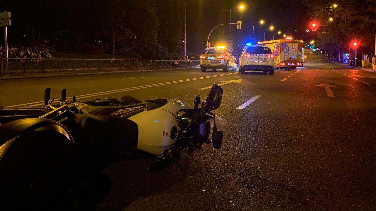 Accidente moto calle Segocia
