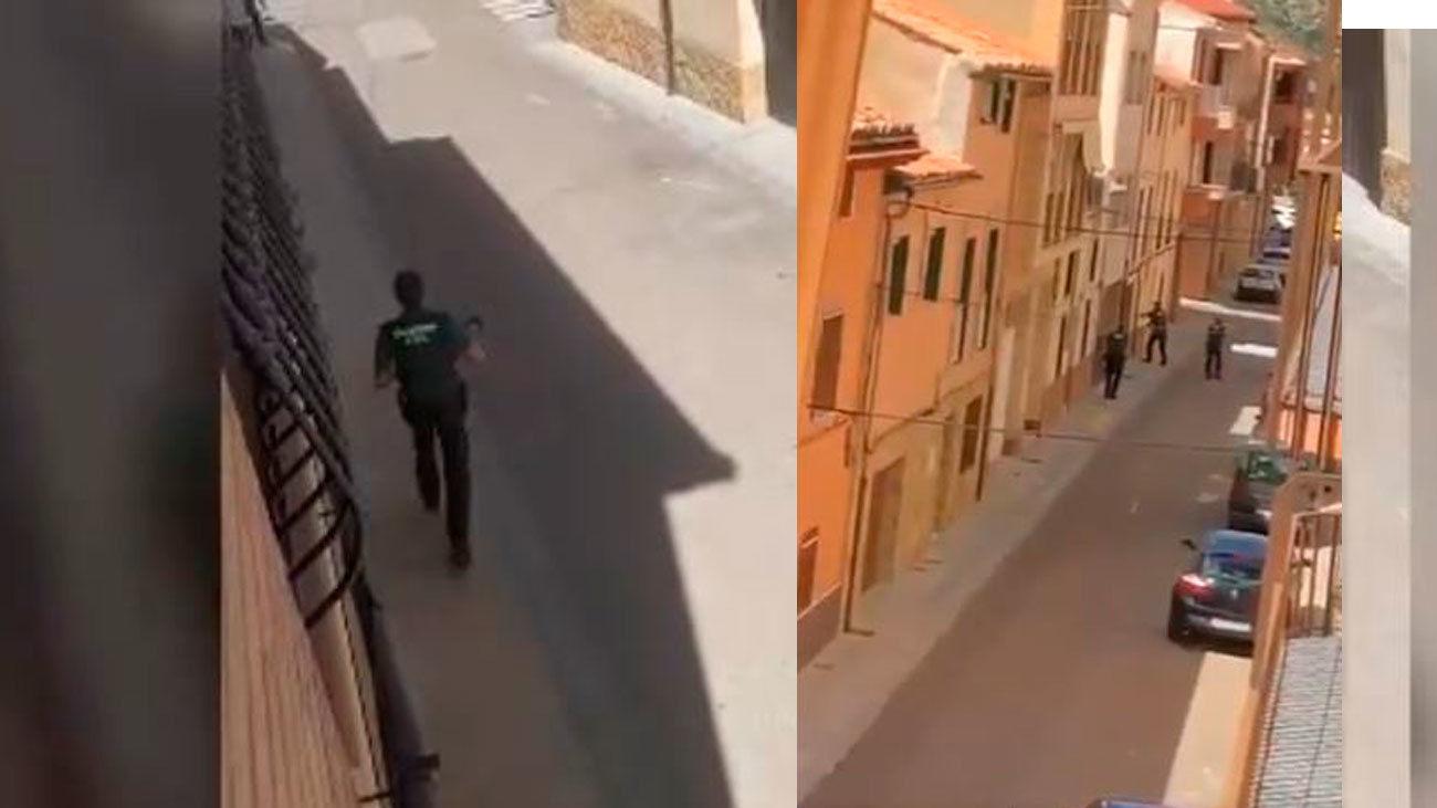 Agentes de la Guardia Civil buscan al Rambo de Requena