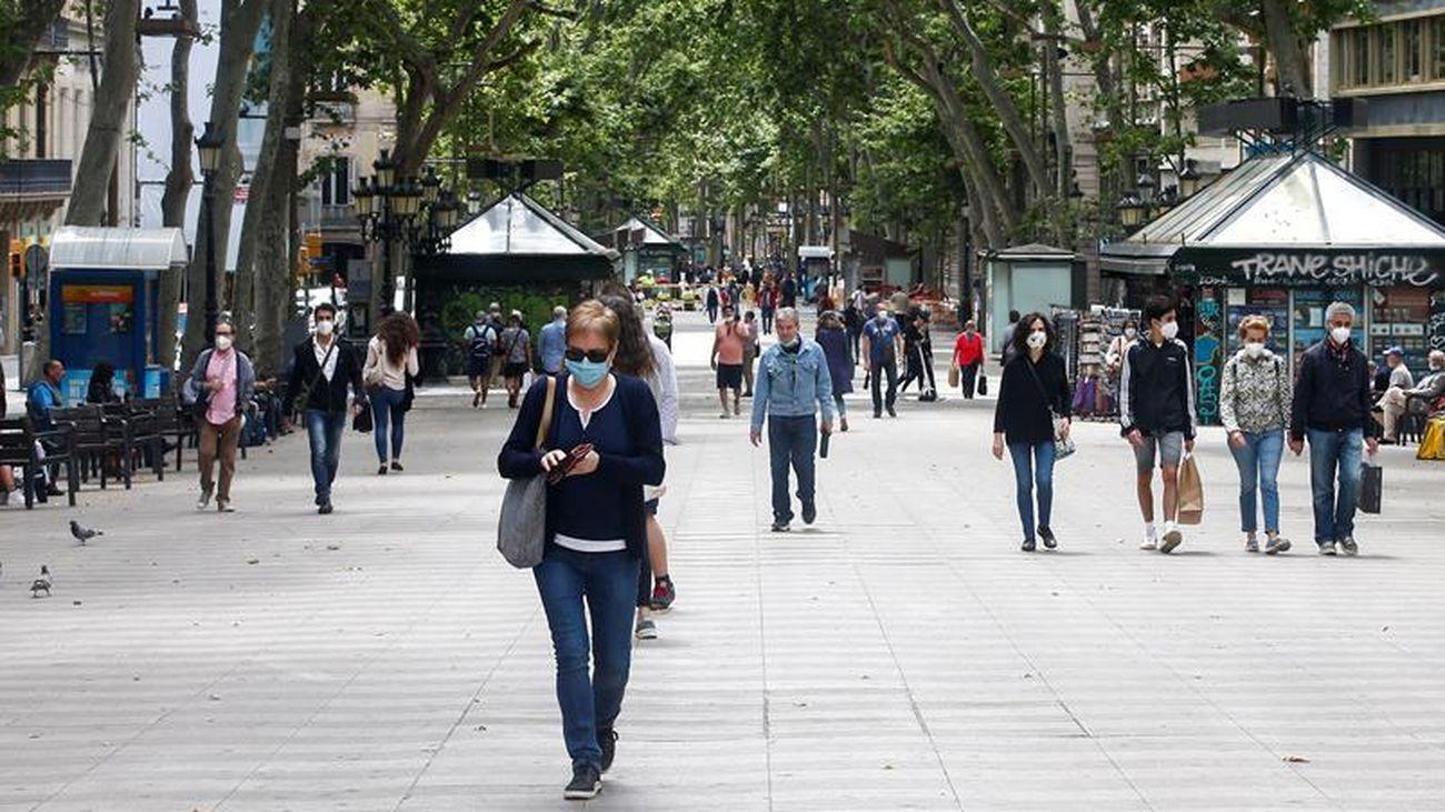 Varias personas, en Barcelona