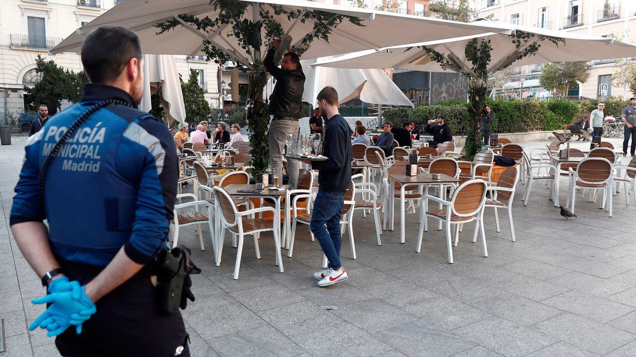 La Policía Municipal de Madrid inspeccionó  4.286 terrazas