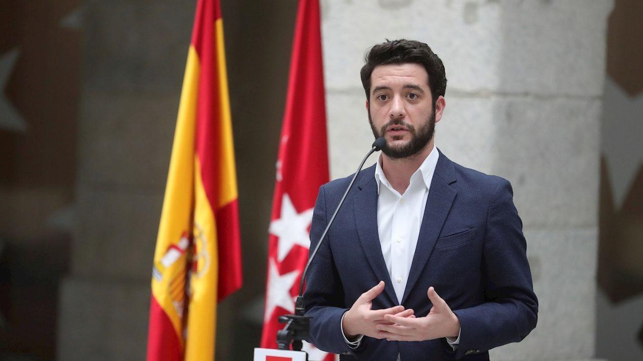 César Zafra, portavoz de Ciudadanos en la Asamblea de Madrid