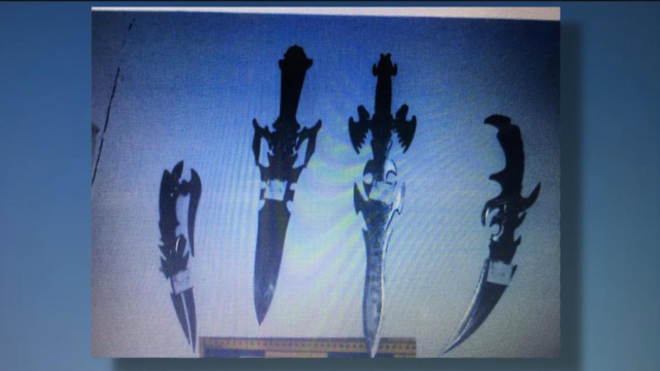 Machetes, catanas, cuchillos para desollar y armas de fuego, en el arsenal del 'descuartizador de Valdemoro'