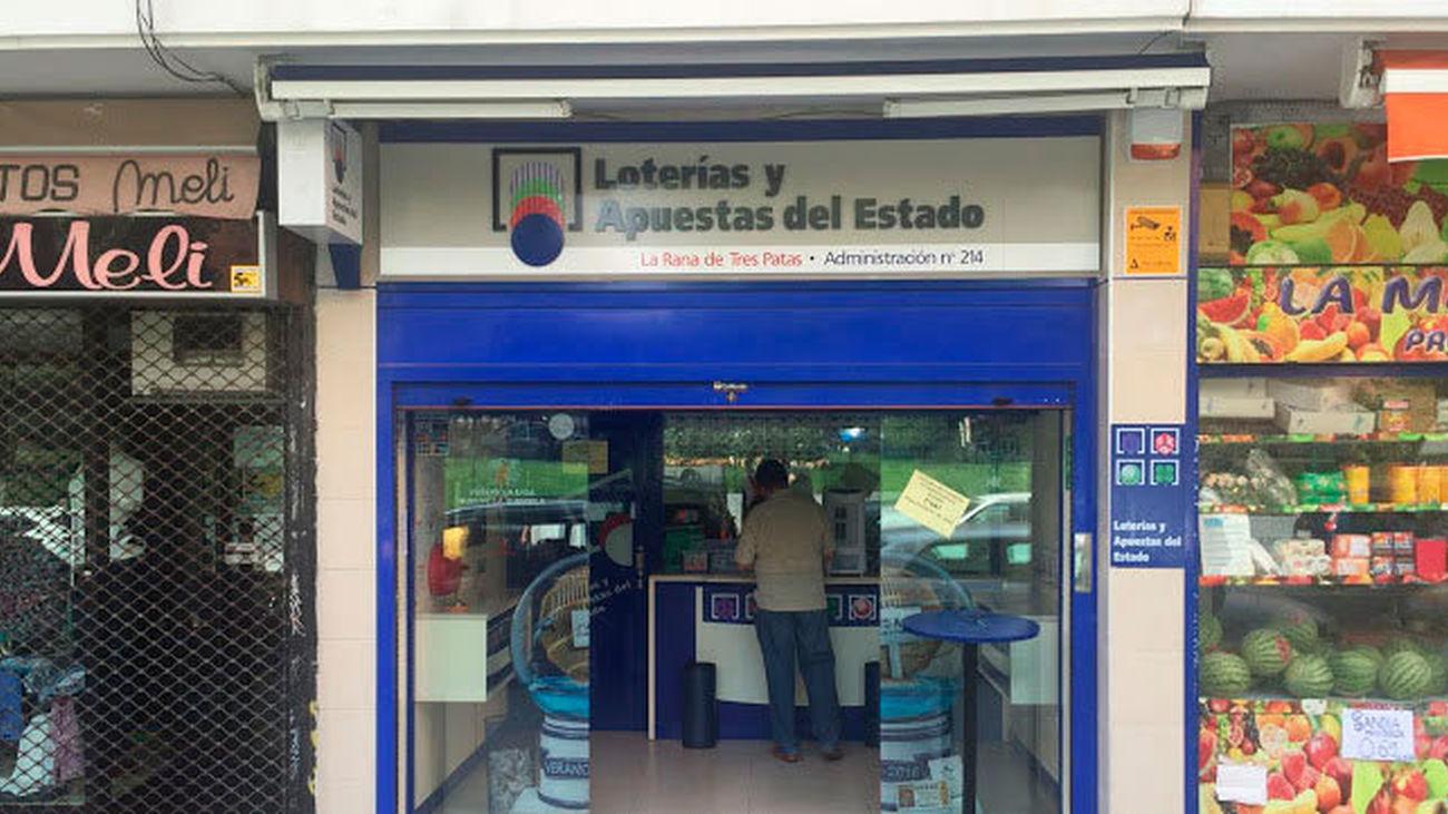 Adiministración de loteria donde fue sellado el premio