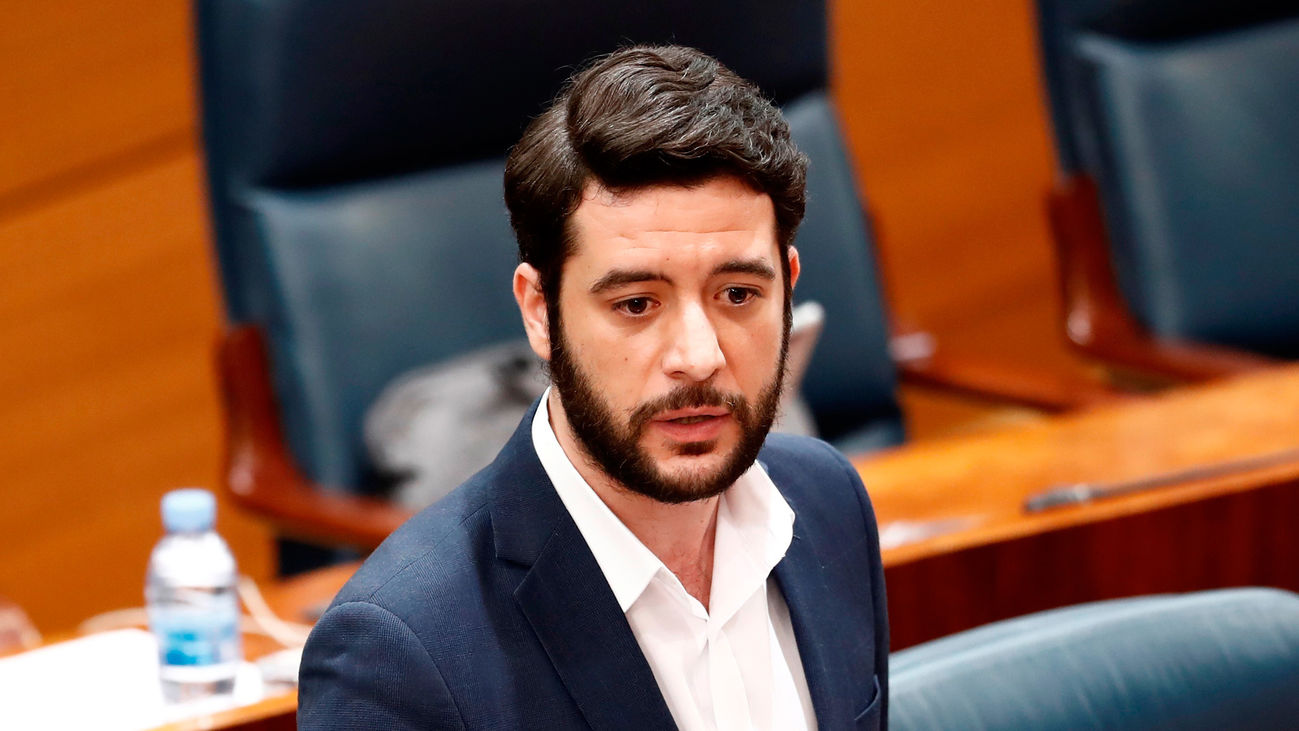 El portavoz de Ciudadanos en la Asamblea de Madrid, César Xafra