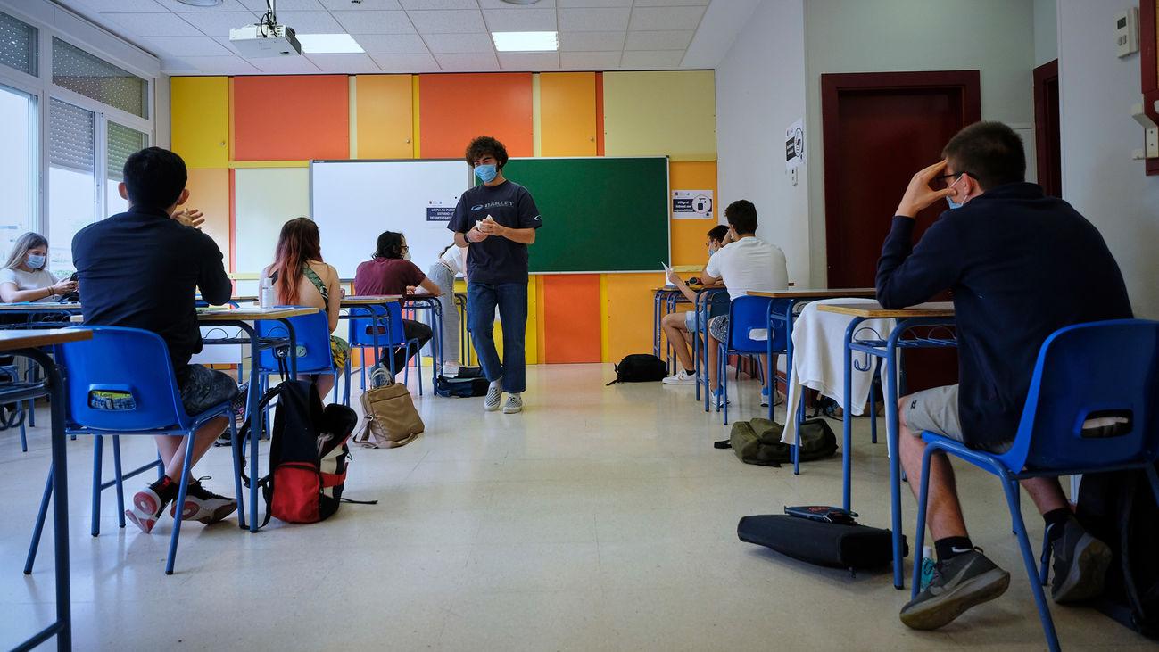 Vuelta a las aulas de los institutos de secundaria madrileños tras el confinamiento por el coronavirus