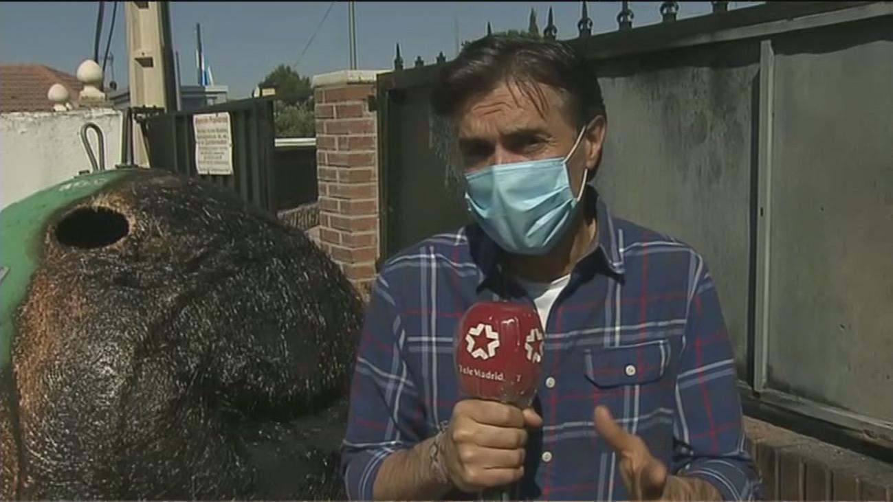 Queman contenedores en Colmenar de Oreja tras la pelea entre vecinos y 'okupas'