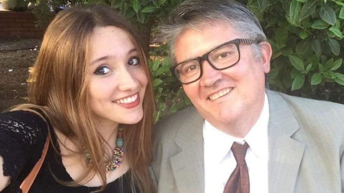 Marta Pérez y su padre Luis