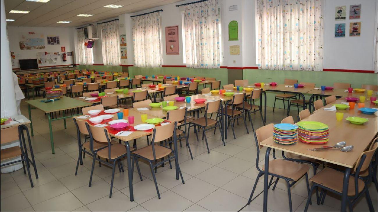 Comedor de un colegio de Fuenlabrada