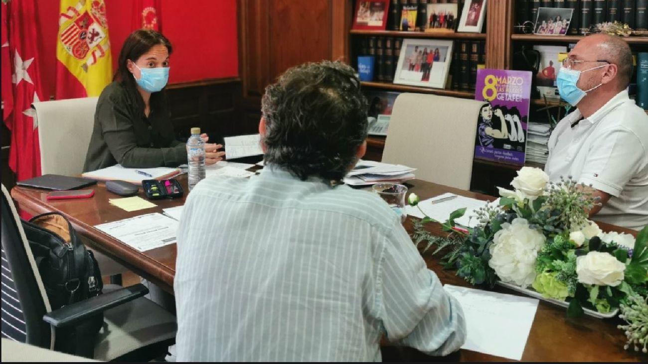 Reunión de Sara Hernandez, alcaldesa de Getafe