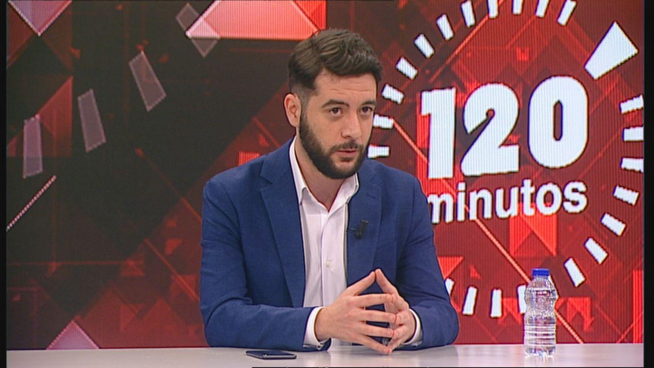 El portavoz de Ciudadanos en la Asamblea de Madrid, César Zafra en 120 Minutos