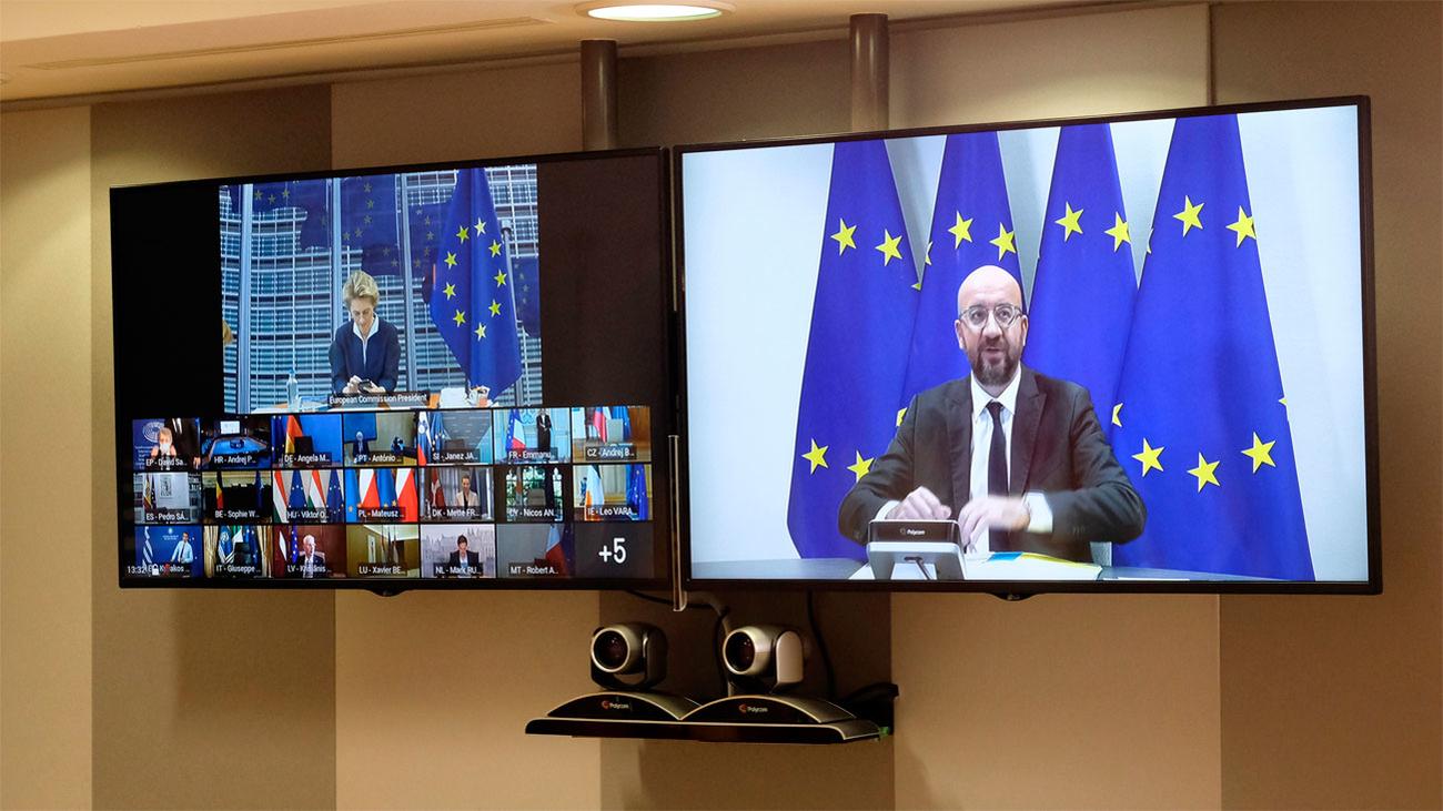 Los líderes de la UE celebran una cumbre virtual sobreel plan de recuperación económica