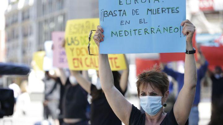 Cientos de personas denuncian en Madrid el drama de los refugiados