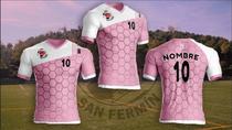 La camiseta de la ADC San Fermín se tiñe de rosa por el cáncer de mama