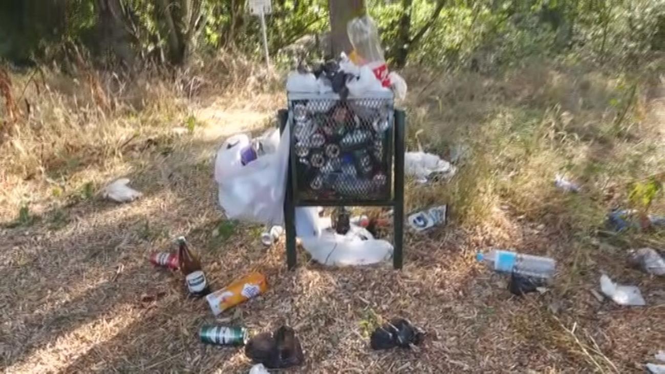 Denuncian la basura acumulada en algunos puntos de El Pardo