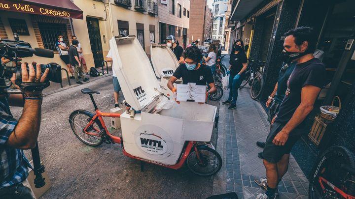 Miguel Silvestre, toneladas de solidaridad en bicicleta por Madrid