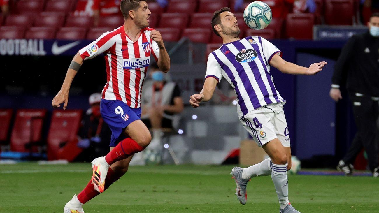 Morata ante el Valladolid