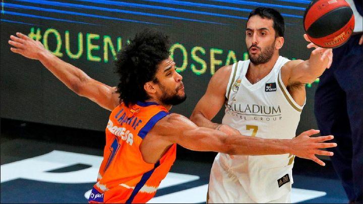 95-90. Campazzo permite al Real Madrid salvar el órdago ante el Valencia Basket