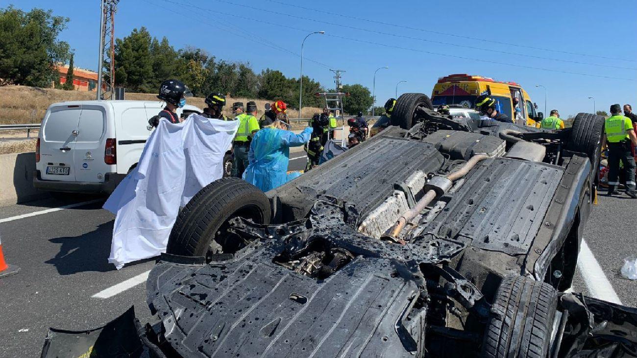 Accidente de tráfico en la autovía de Andalucía