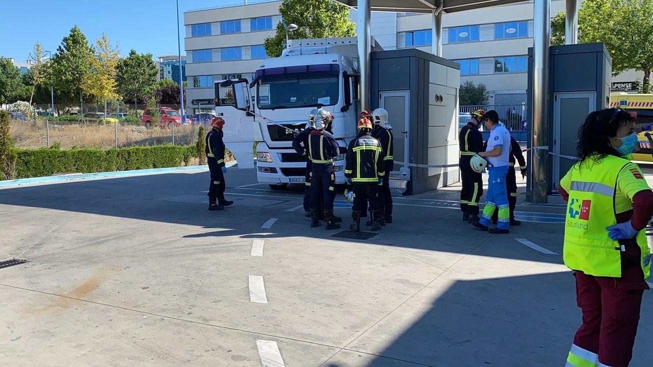 El camión iba a pasar la ITV en Rivas Vaciamadrid