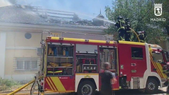 Arde el archivo de la delegación de Patrimonio Nacional de El Pardo